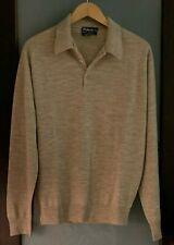 Men's Beige Wool Burberry Sweater