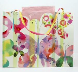 Stephen Lawrence Maria Carlucccio Butterflies Gift Bag w/Pink Tissue Paper