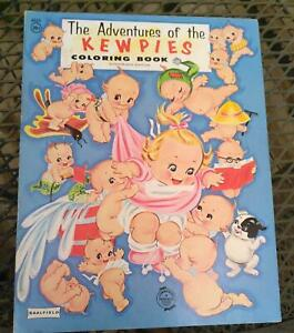 The Adventures of the Kewpies Coloring Book 1968 Saalfield  NEW OLD STOCK