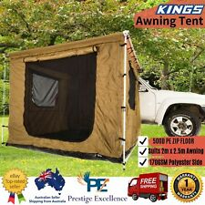 Car Side Awning Tent Outdoor Camping Shade Roof Kings Waterproof Suits 2m x 2.5m