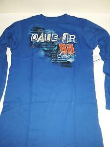 Dale Earnhardt Jr # 88 Long Sleeve Royal T-shirt, Large