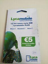 SIM LYCAMOBILE ITALIANA NUOVA