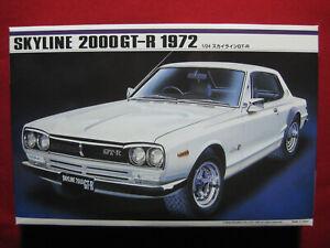 1972 Datsun Nissan Skyline 2000 GT-R 1/24 Motorized Model Kit Imai Japan GTR