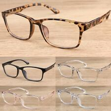 Classic Square Clear Lens Glasses Women's Mens Fashion Vintage