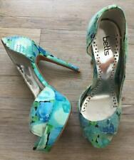 BETTS 7 AQUA BLUE SEQUIN peep-toe PLATFORM HEEL party clubbing PASSION shoes xc