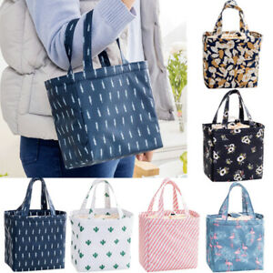 New Adult Womens Kids Portable Insulated Lunch Bag Picnic Box Tote School Bags