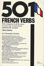501 Five Hundred One French Verbs by Christopher Kendris (1990, Paperback Book)