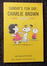 1967 Sunday's Fun Day Charlie Brown Charles M Schulz SC FVF 4th Holt Reinhart