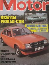 Motor magazine 1/9/1979 featuring Ford Cortina road test, Opel Kadett cutaway