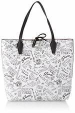 7f98a0cc7 Borsa Shopping Guess Donna ecopelle reversibile Rosa fantasia Graffiti  Pochette