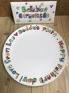 Hand painted Personalised Dinner Plate. Custom Up To 40 Letters