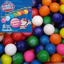 """Dubble Bubble Assorted Flavors Gumballs (1"""" 24mm) Gum Balls 4lbs Approx 220 Pcs."""