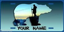 MOUNTAIN MAN WILDERNESS GRIZZLY BEAR License Plate  personalized Made in USA