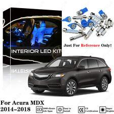 14pcs Blue Interior LED Light Package Kit For Acura MDX 2014 2015 2016 2017 2018