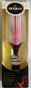 Denman D4 Classic Large Styling Detangling Hair Brush Black & Red TOP Choice