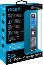 Coby CVR-25-BLK 8 GB USB Digital Voice Recorder W/ Built-In-Mic