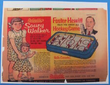 Rare 1953 Reliable Toy Foster Hewitt Table Hockey Game & Saucy Walker Doll Ad