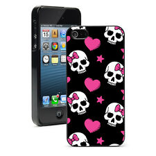 For iPhone SE 5 5S 5c 6 6s 7 Plus Hard Case Cover 6 Skulls Hot Pink Bows