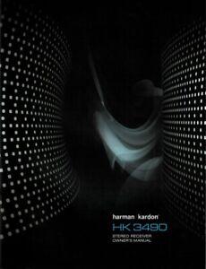 Harman Kardon HK 3490 Receiver  Owner's Manual - Operating Instructions