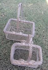 Set of 2 Decorative Wire and wicker Baskets -