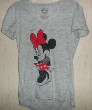 NWT WOMENS Disney Minnie Mouse LIGHT GRAY HEATHER KNIT TOP / T-shirt SIZE XS