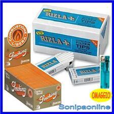 2400 FILTRI RIZLA ULTRASLIM + 3000 CARTINE  CORTE SMOKING ARANCIONI