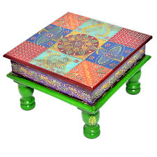 Multi Color Bajot Chowki Chaurang Patli Pooja Small Table Stool for Daily Prayer