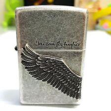 Zippo Higher Silver Wing Lighter Genuine Original Packing 6 Flints Free GIFT
