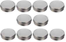 Nakpunar 10 pcs 2 oz Screw Top Tin Containers