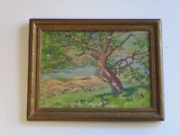 ANTIQUE CALIFORNIA ? PAINTING IMPRESSIONISM EARLY 20TH CENTURY AMERICAN MYSTERY