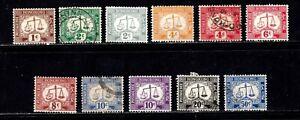Hong Kong stamps #J1 - J12, Mint & used, no J4, BOB, Postage Due, SCV $105.00