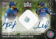 KRIS BRYANT ADDISON RUSSELL 2016 Topps Now Dual AUTO BASE /199 World Series Cubs