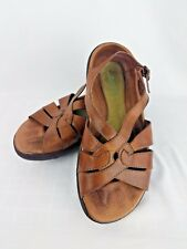 EARTH Comfort Sandals Jolie Almond Brown Leather Women's US Size 6 B