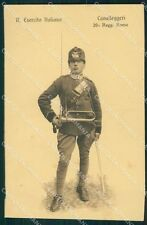 Militari 20º Reggimento Roma Cavalleggeri Uniforme cartolina QT8010