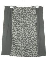 CHICO'S Skirt Women's Size XL 3 Black Gray Animal Print Ponte Stretch Pencil
