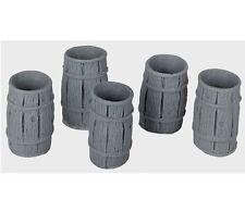 Bar Mills #04029 Rain Barrels - 5 pk O Scale NEW 4029