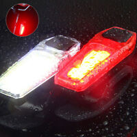 COB LED Bicycle Bike Cycle Front Rear Tail Light USB Rechargeable 4Modes Lamp SD
