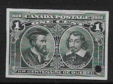 CANADA 1908 Quebec Tercentenary 1c blue-green small die - 9059