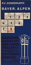 antico Aral Cartina geografica B. V Biglietto speciale La Baviera. Alpi (Aral 2)