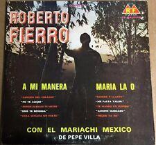 ROBERTO FIERRO CON EL MARIACHI MEXICO DE PEPE VILLA MEXICAN LP WOC MARIACHI