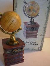 Boyds Bears Sebastian's World w/ Columbus McNibble Globe It's a Small World Box