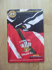 Wales v New Zealand 1993 Rugby League Programme