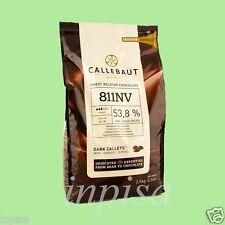 "CALLEBAUT DARK CHOCOLATE 5.5# ""811NV"" 53.8% COCOA FINEST BELGIAN CHOCOLATE"