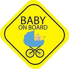 Bébé à bord garçon extérieur Pare-chocs Autocollant graphique vinyle étiquette