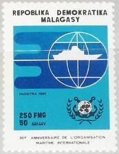 Madagascar Malagasy 1990 1253 979 30 Ann intl Maritime org. ship on Globus mnh