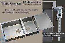 Round Edge 1160*450*200 mm Kitchen Sink Laundry Sink stainless steel hand made