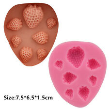 Strawberries Silicone Cake Mould Fondant Sugar Craft Chocolate Decorating Tool