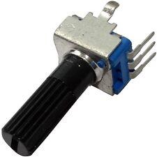 5x Potentiomètre rotatif mono linéaire 500kΩ 125mW ±20% THT axe moleté 6mm