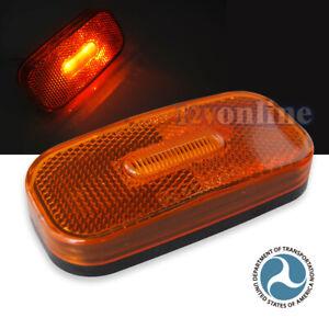 Amber LED Side Marker Light Trailer Caravan Lorry RV LED Clearance Lamp 12Volt