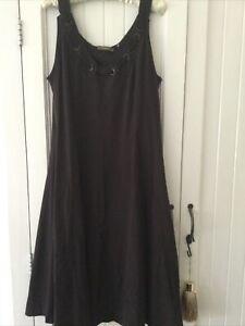 Sandwich Summer Cotton Chocolate Brown Dress XL